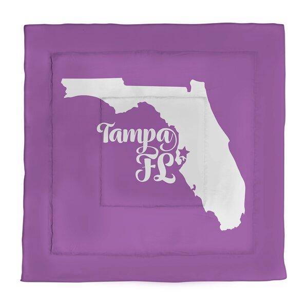 Tampa Florida Single Reversible Comforter