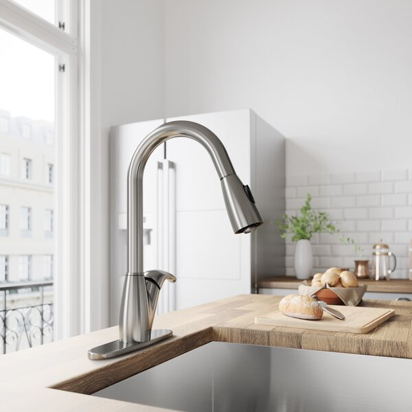 Romano Pull Out Single Handle Kitchen Faucet by VIGO