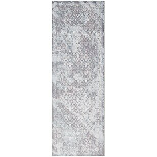 Coupon Heger Distressed Gray/White Area Rug ByWilliston Forge