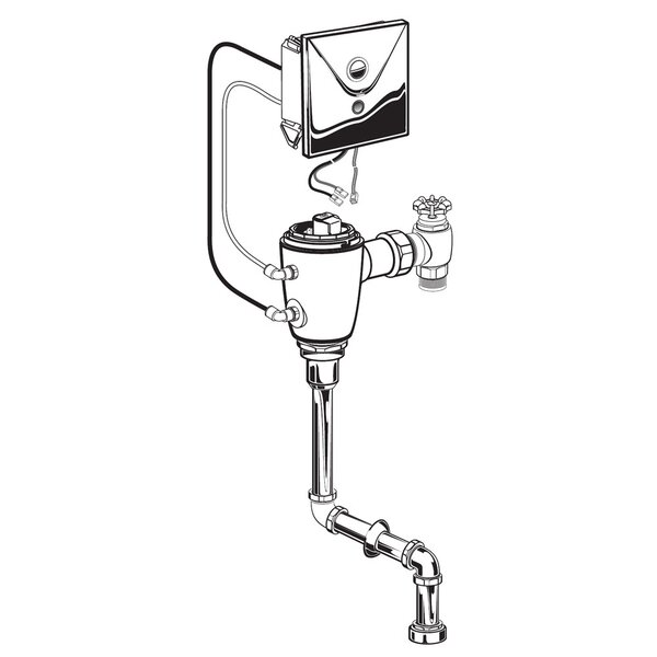 Concealed 0.125 GPF DC Urinal Flush Valve with Top Spud by American Standard
