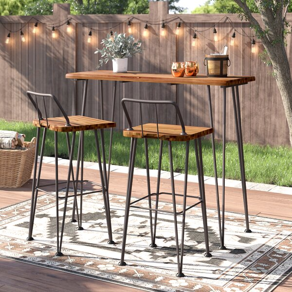 Loya Outdoor Bar Set by Union Rustic