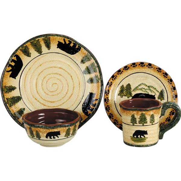 Grotto Bear 16 Piece Dinnerware Set by Loon Peak
