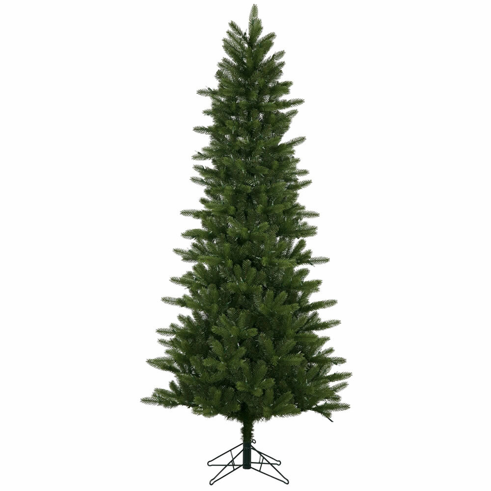the holiday aisle 75 green kennedy fir slim artificial christmas tree with 500 led white lights with stand wayfair - Slim Christmas Tree With Led Lights