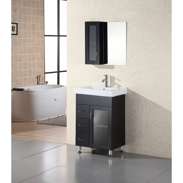 Pratt 24 Single Bathroom Vanity Set with Mirror by dCOR design