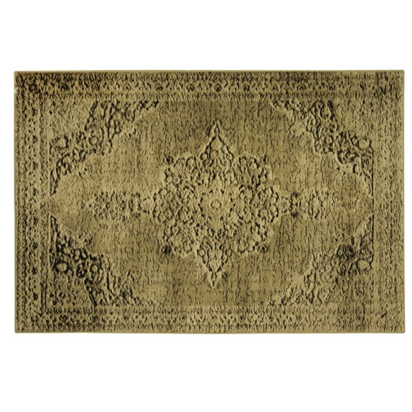 Traditions Cala Yellow Area Rug by Bacova Guild