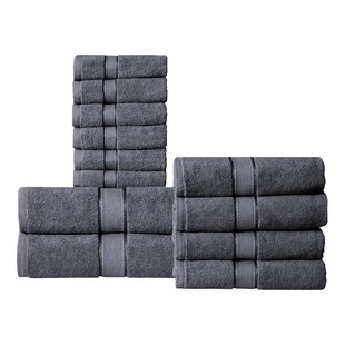 Verwood 12 Piece 100% Cotton Towel Set