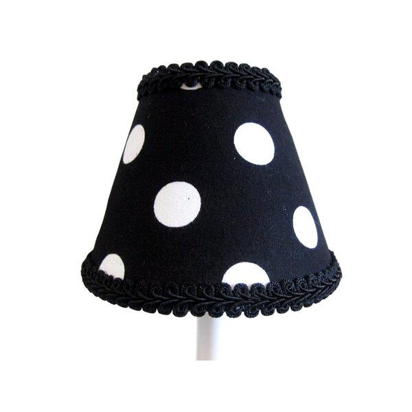 Licorice Sticks 4 H Fabric Empire Candelabra Shade ( Clip On ) in Black/White