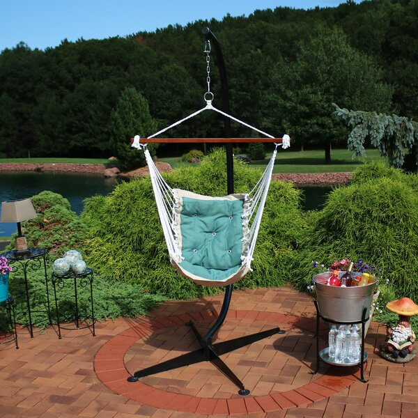 Creditonn Tufted Chair Hammock with Stand by Freeport Park Freeport Park
