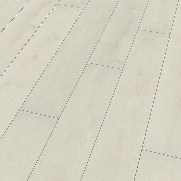 8 x 52 x 10mm Oak Laminate Flooring in White by ELESGO Floor USA