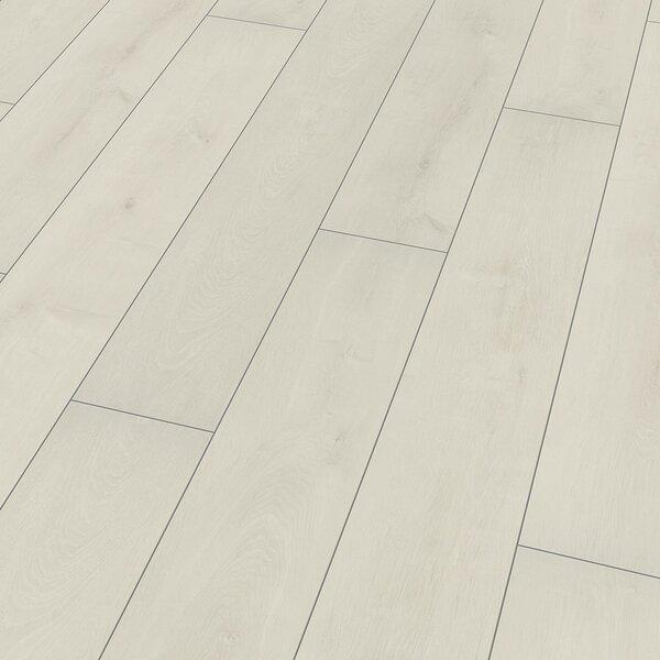 8 x 52 x 10mm Oak Laminate Flooring in White by ELESGO Floor USA