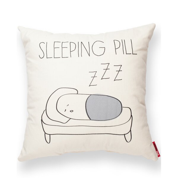 Sleeping Pill Cotton Throw Pillow by Posh365