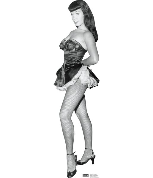 Bettie Page - Fish Net Nylons Cardboard Standup by Advanced Graphics