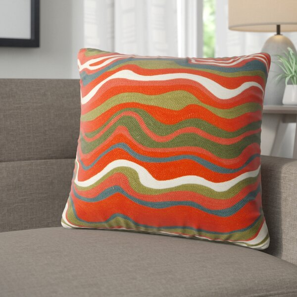 Jerald Embroidered Cotton Throw Pillow by Corrigan Studio