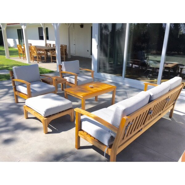 Waterford 15 Piece Teak Patio Dining Set with Cushions