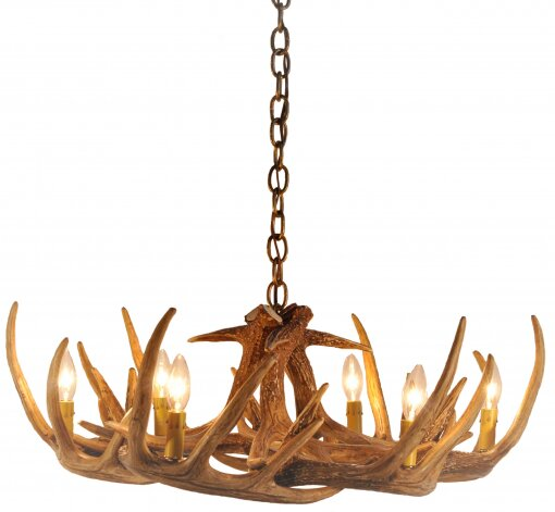 Hattie 6 - Light Candle Style Classic / Traditional Chandelier with Antler Accents by Millwood Pines Millwood Pines