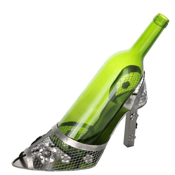 Women's High Heel Shoe 1 Bottle Tabletop Wine Bottle Rack by Wine Bodies Wine Bodies