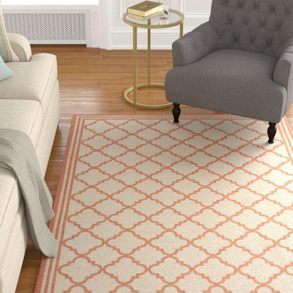 Berardi Cream/Rust Area Rug by Darby Home Co