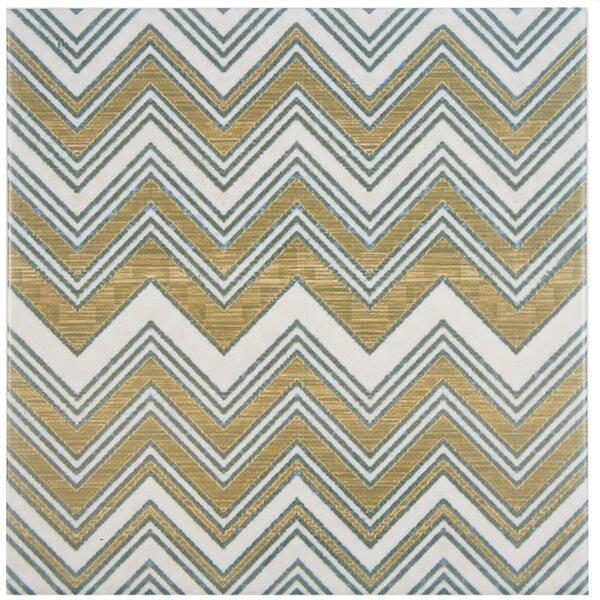 Illica 7.75 x 7.75 Ceramic Field Tile in Blue/Gray by EliteTile