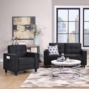 Jeylanie 2 Piece Velvet Living Room Set by Latitude Run®