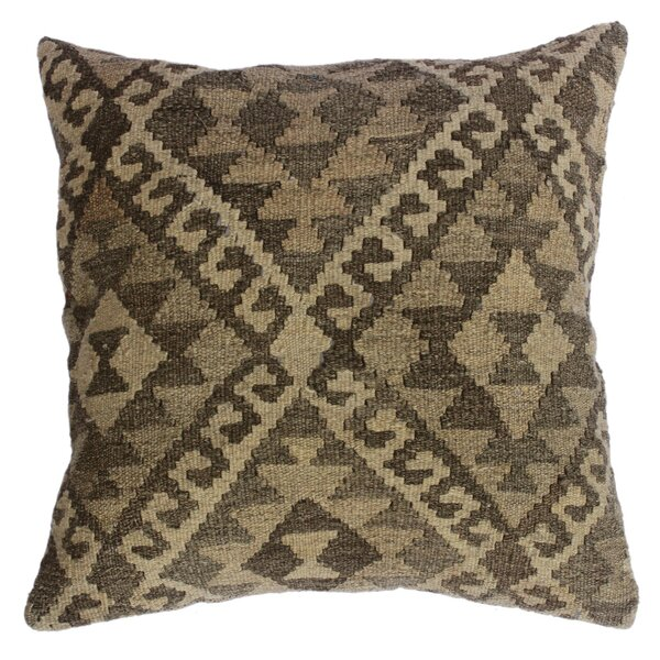 Bakerstown Hand-Woven Kilim Wool Throw Pillow by Millwood Pines