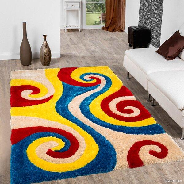 Kasper Soft 3D Spiral Multicolor Area Rug by Latitude Run