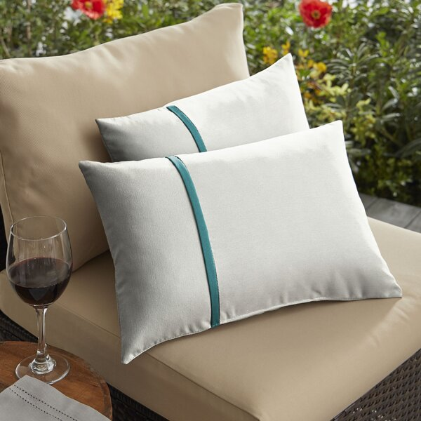 Forgey Indoor/Outdoor Lumbar Pillow (Set of 2)