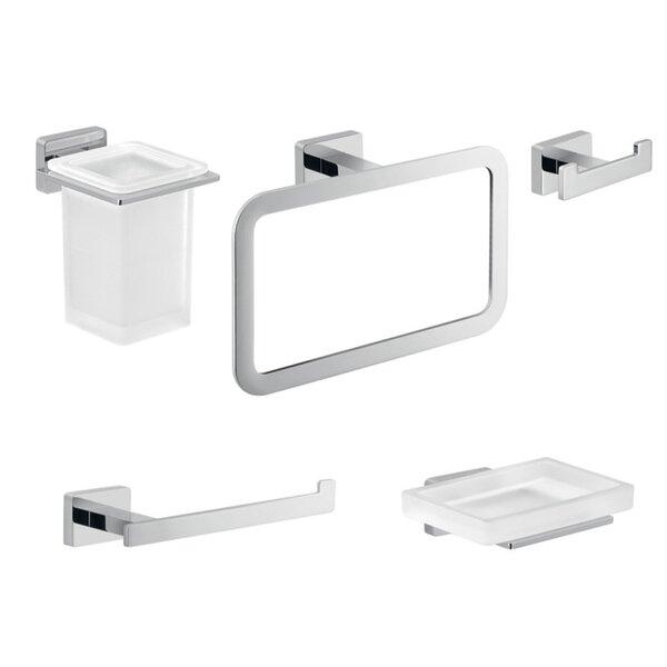 Atena 5 Piece Bathroom Hardware Set by Gedy by Nameeks