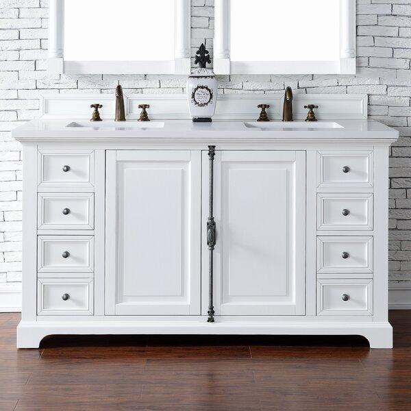 Ogallala 60 Double Cottage White Bathroom Vanity Set by Greyleigh