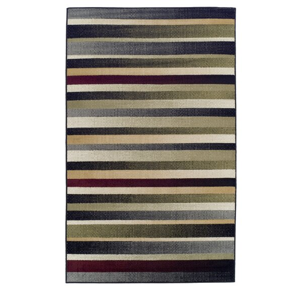 Azaleh Corona Black/Gray Area Rug by Ebern Designs