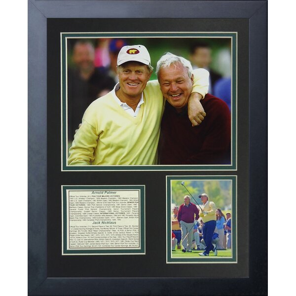 Jack Nicklaus and Arnold Palmer Portrait Framed Memorabilia by Legends Never Die