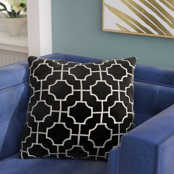 Allbright Embroidered Throw Pillow by Everly Quinn