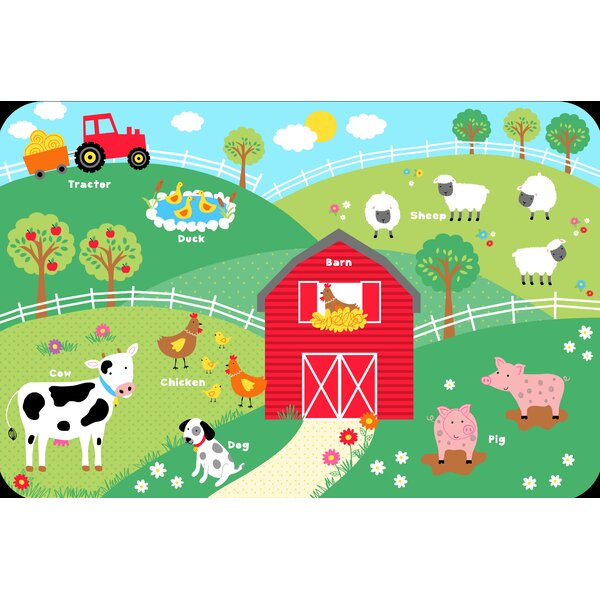 Farm Animals Juvenile Vinyl Placemat (Set of 6) by Elrene Home Fashions