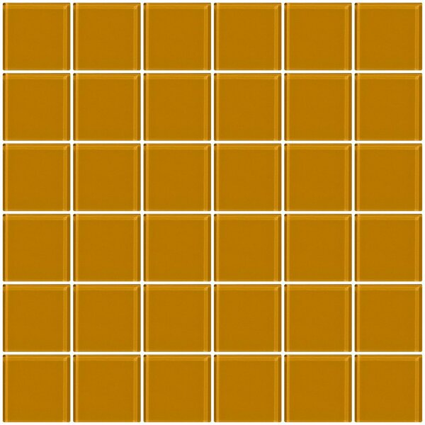 Bijou 22 2 x 2 Glass Mosaic Tile in Light Peach Beige Brown by Susan Jablon