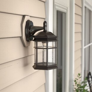 Bargain Derosier Contemporary 1-Light Outdoor Wall Lantern By Three Posts