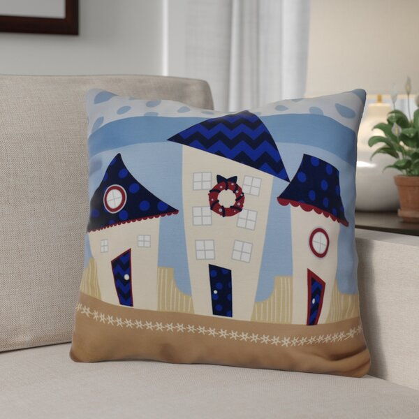 Decorative Holiday Geometric Print Throw Pillow by The Holiday Aisle