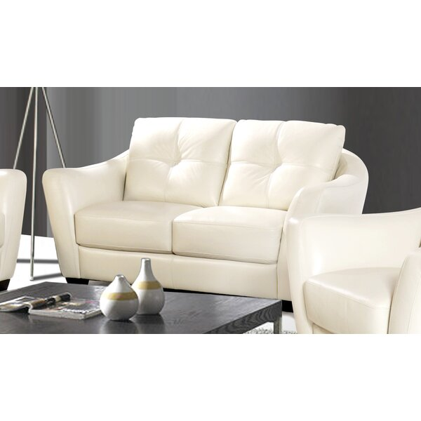 Swink Leather Loveseat by Ebern Designs