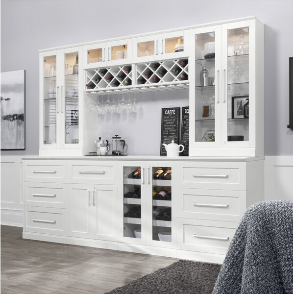 Review Home Series Shaker Style Back Bar With Wine Storage By Newage