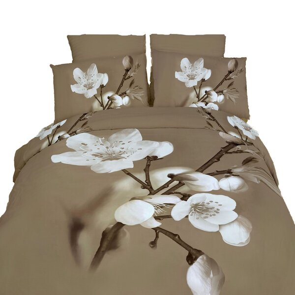 Delicato 6 Pieces Reversible Duvet Cover Set by Dolce Mela