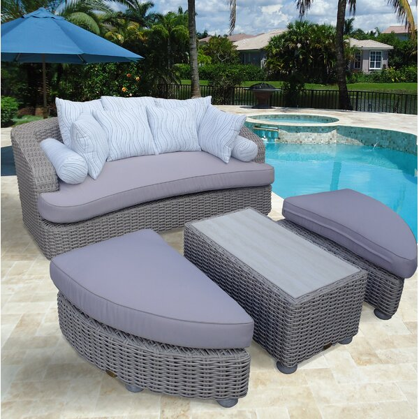 Gaia Tuscan Patio Daybed With Cushions By Bayou Breeze by Bayou Breeze 2020 Sale