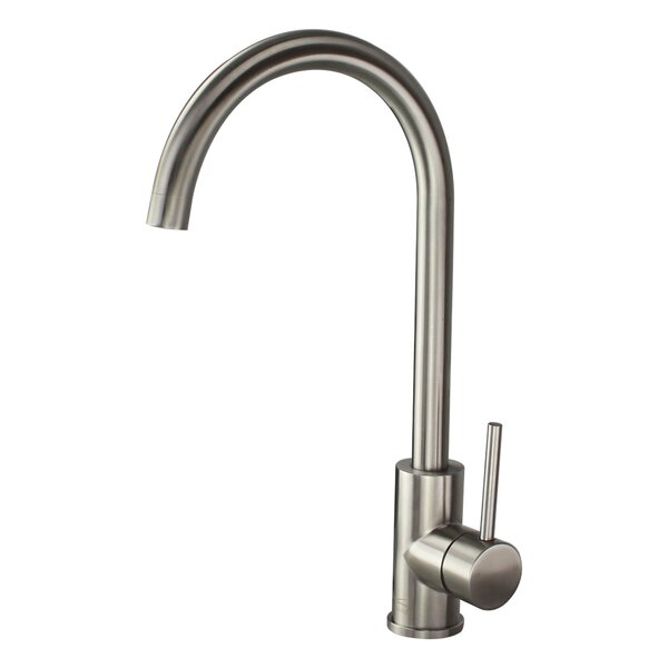 Cameron Hi-Arc Single Handle Kitchen Faucet by Transolid
