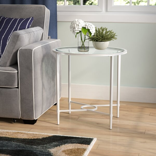 Sherrodsville Glass Top End Table By Charlton Home