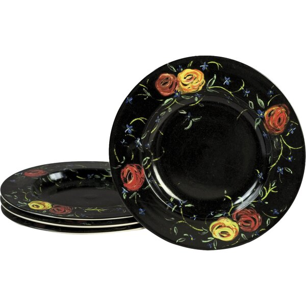 Round Rose Plate (Set of 4) by AA Importing