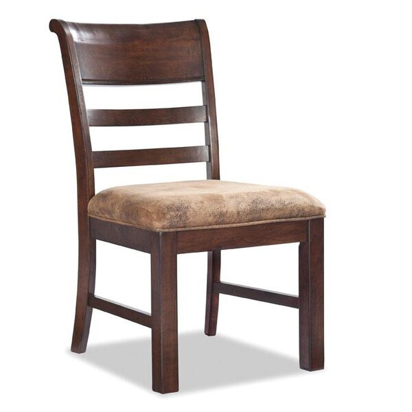 Alexandria Ladder Back Upholstered Dining Chair by Loon Peak
