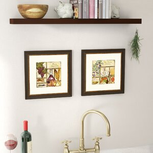 'Italian' 2 Piece Framed Graphic Art Set by Charlton Home