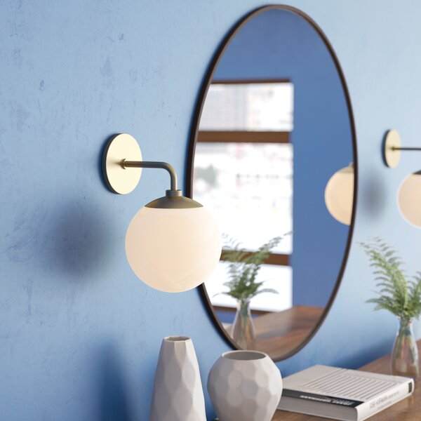 Samira 1-Light 60W Armed Wall Sconce by Langley Street