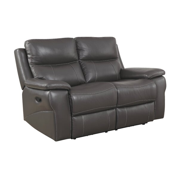 Faulks Leather Reclining Loveseat by Red Barrel Studio