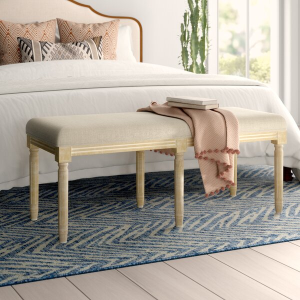 Glenoe Upholstered Bench By Mistana by Mistana Best Choices