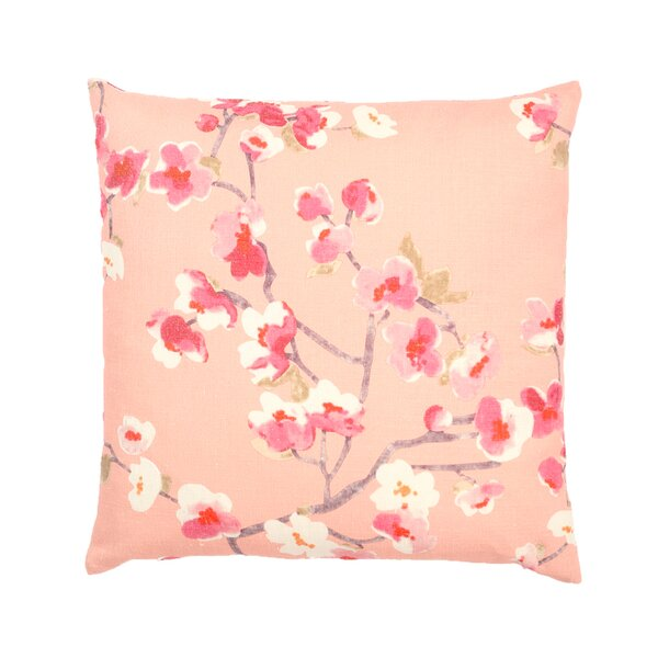 Vincennes Sakura Floral Print Square Indoor Throw Pillow by Alcott Hill