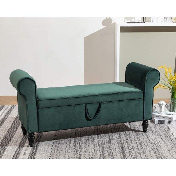 Wickline Upholstered Flip Top Storage Bench