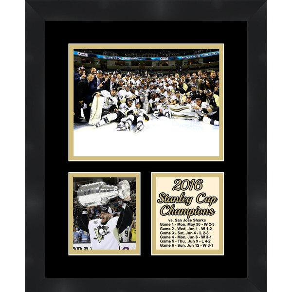 Pittsburgh Penguins Champion Matt Murray holding the 2016 Stanley Cup Collage Framed Photographic by Frames By Mail